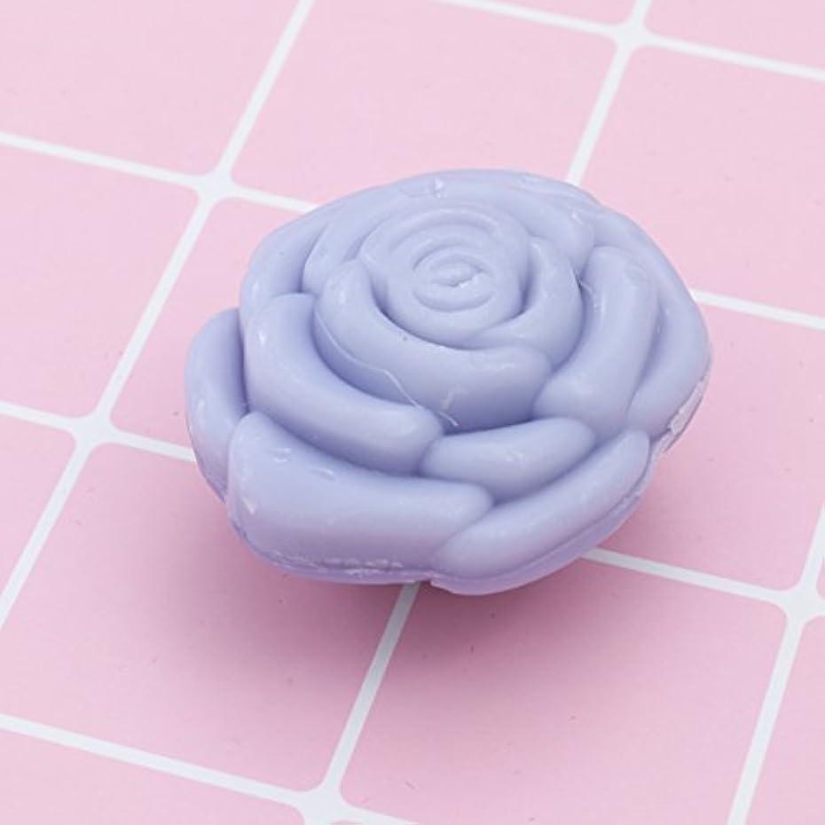 熱心なスカーフ即席Amosfun 手作り石鹸オイルローズフラワーソープアロマエッセンシャルオイルギフト記念日誕生日結婚式バレンタインデー(紫)20ピース