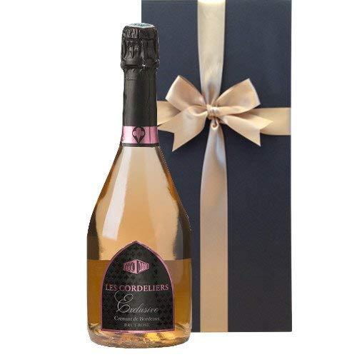 スパークリングワインギフト シャンパン方法を使ったエレガントなロゼスパークリングレ・コードリエ フランス ボルドー 750ml