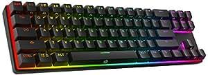 DREVO Calibur 71キー メカニカルキーボード 茶軸 US配列 RGB テンキーレス Bluetooth4.0対応 ワイヤレスキーボード ゲーミングキーボード ブラック