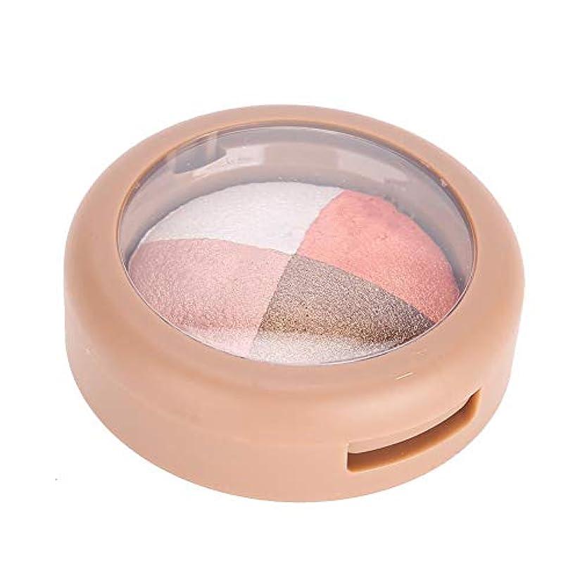 暗唱する協力ポイントアイシャドウパレット 4色 アイシャドウ高度に着色された目メイク長期的な防水アイシャドウパウダー化粧品(4#)