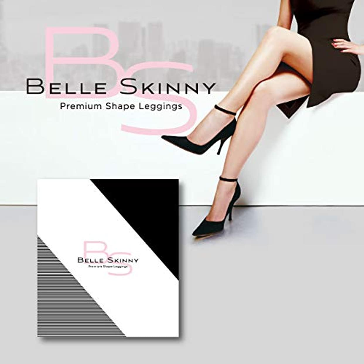 まだ妊娠したクモベルスキニー BELLE SKINNY 着圧 骨盤矯正 脚痩せ むくみ 美脚 レギンス S-Mサイズ (S-M)