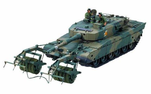 1/35 ミリタリーミニチュアシリーズ No.236 陸上自衛隊 90式戦車 マインローラー (92式地雷原処理ローラ装備) 35236