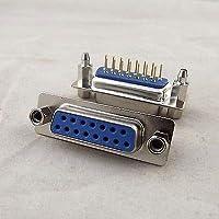 FidgetGear 10×D-SUB DB15 15ピンメスDIP PCBはんだコネクタアダプタ2列ロックねじ