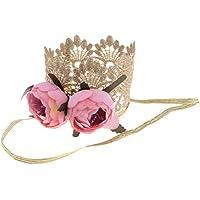 Baosity ベビー誕生日 ハット かぎ針編み レース フラワー 王冠 ヘッドバンド おしゃれ 可愛い