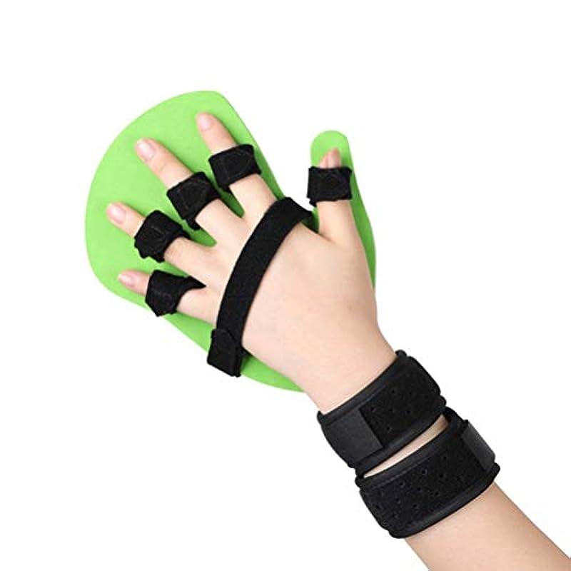 バルコニー暴徒変えるセパレータインソールフィンガートレーニングデバイスフィンガースプリント指、手の手首のトレーニング装具デバイスブレースサポート攣縮拡張ボードスプリント脳卒中片麻痺、左右の手指 (Color : Left, Size : L)