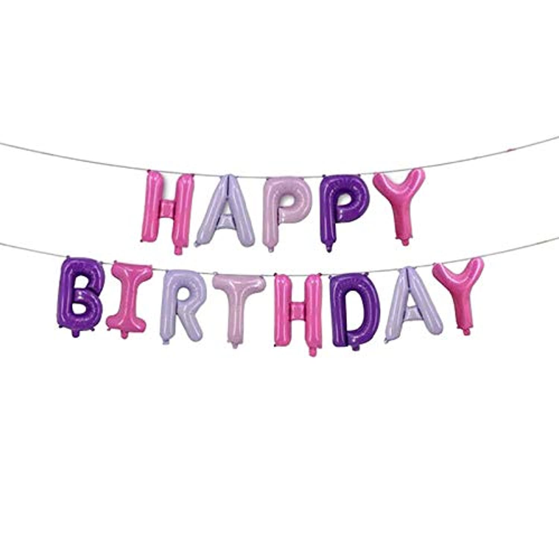 Noloo バースデーバルーン 誕生日祝い 風船セット happy birthday 16インチ 部屋飾り 装飾セット (A3)
