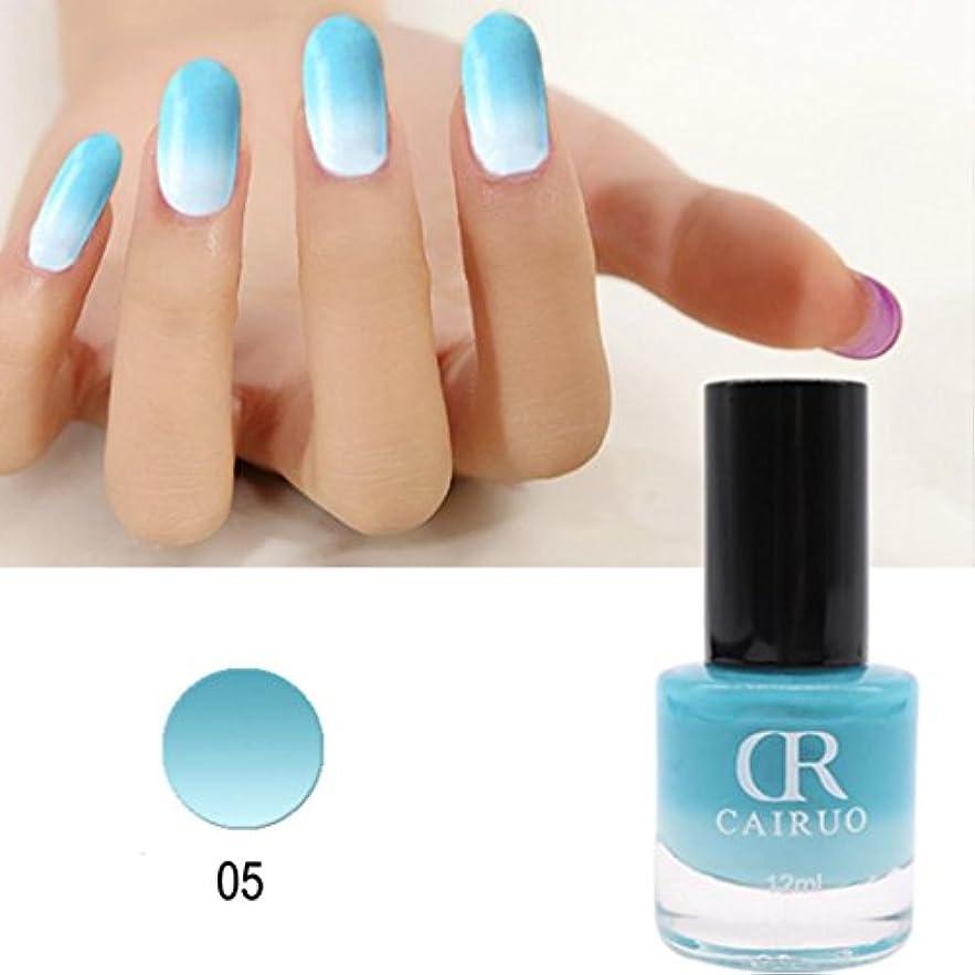 コンテスト違反する効率的にネイルカラー BOBOGOJP 26選 色のバリエーション豊富 透明感 マニキュア 人気 流行 塗りやすい 速乾 nail 指先 爪先 ネイル用 温度にり色が変わるネイルポリッシュ (E)