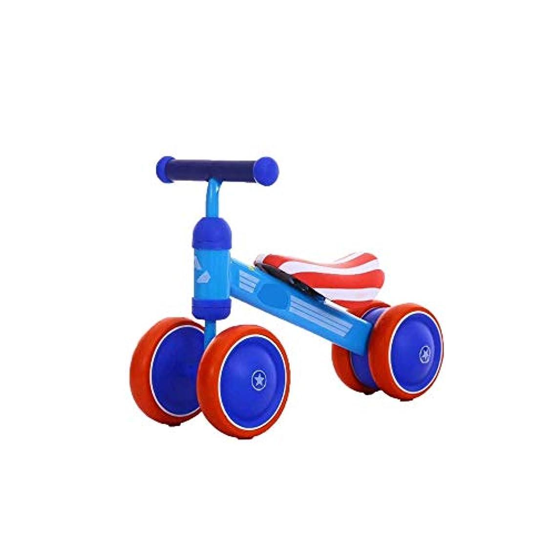 着替えるドラム横バランスバイク 赤ちゃん高炭素鋼バランスバイクペダルなし四輪スポーツバランス自転車安全な乗り物のおもちゃ 幼児用バランスバイク (色 : Pink, Size : Free size)