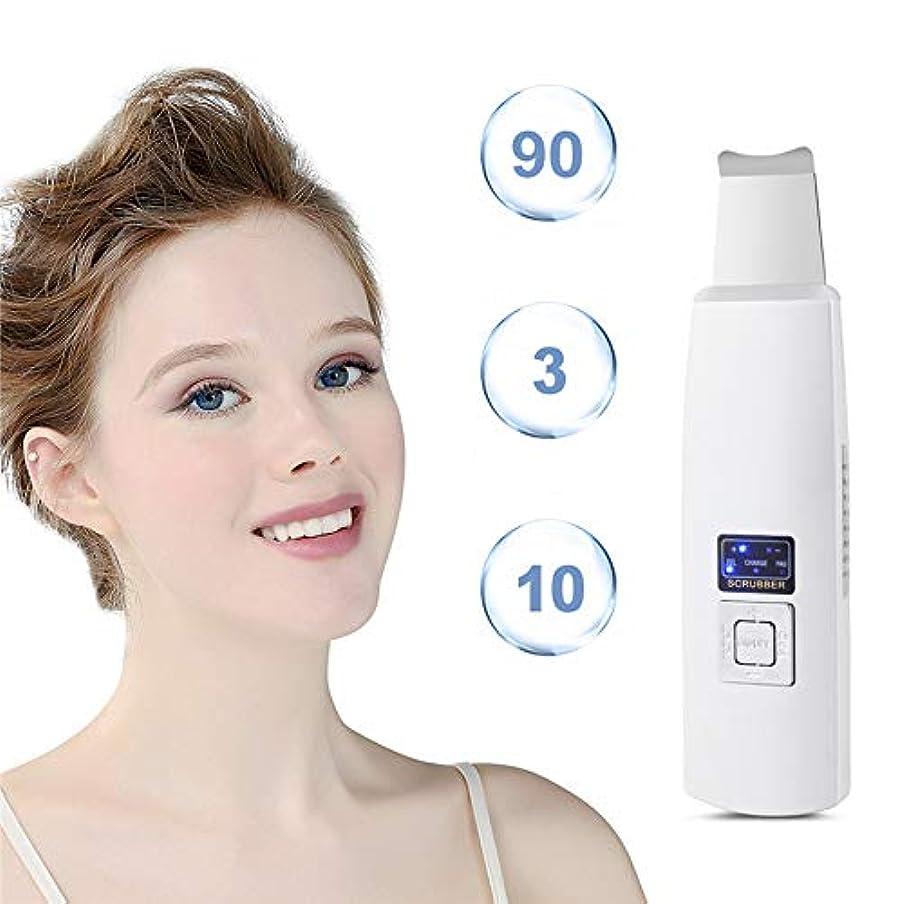 ドメイン料理反響する毛穴の深さの清潔になることおよび顔の持ち上がることのために再充電可能な携帯用皮のスクラバーの剥離剤にきびの除去剤の表面皮のへら