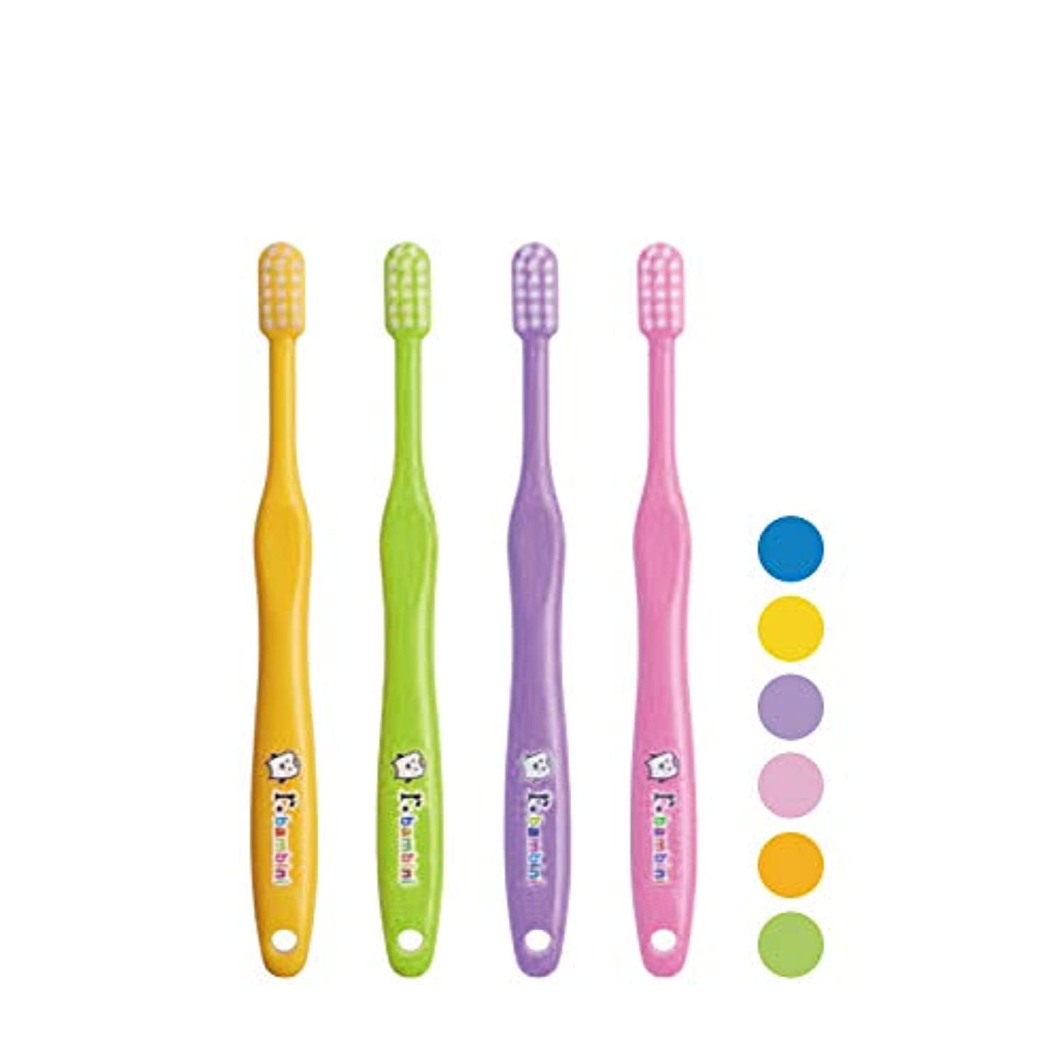 したい手綱海洋のサムフレンド r(アール)シリーズ アール バンビーニ 子ども用 歯ブラシ× 4本 M (ふつう)