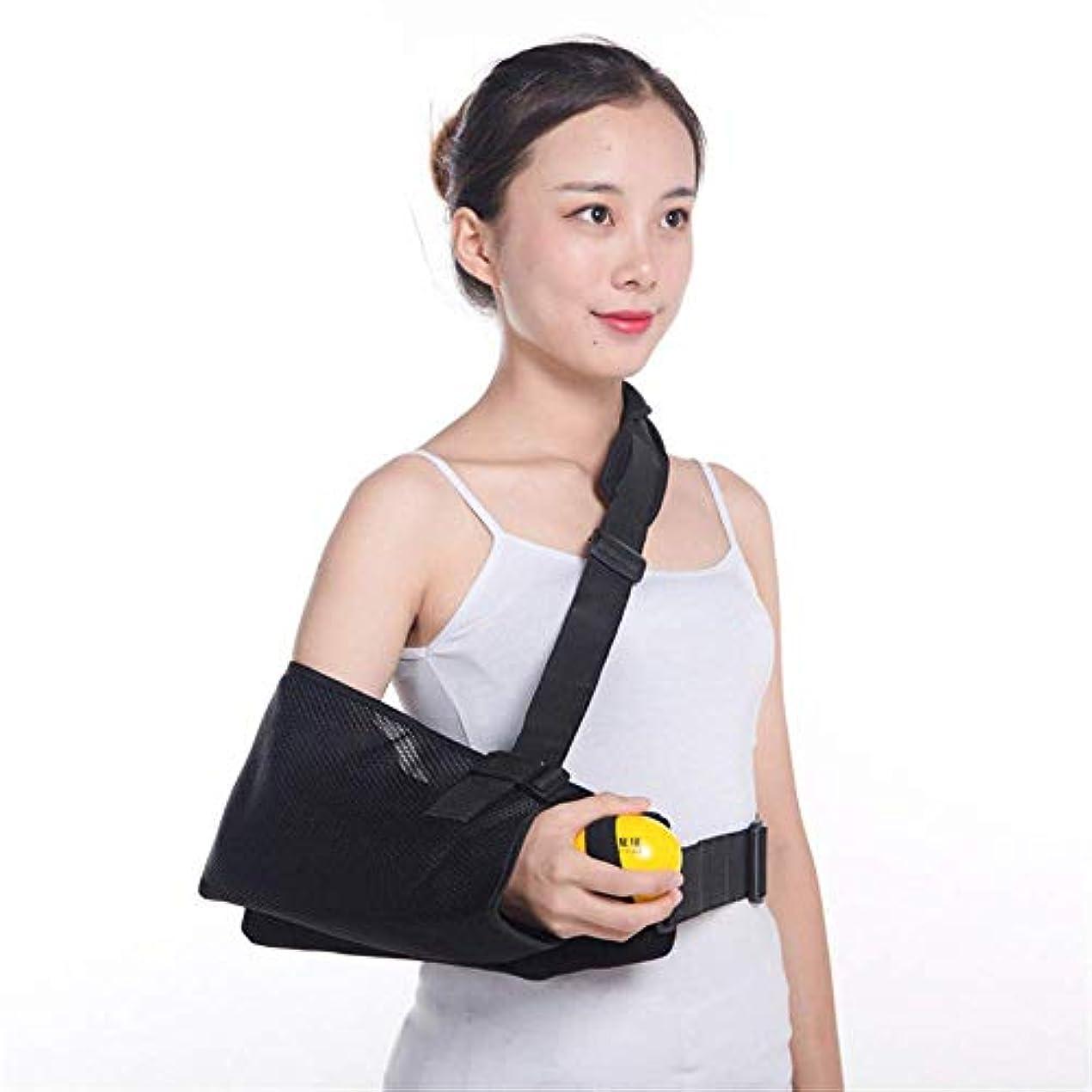がんばり続ける骨折ちょうつがい肩外転スリング - 怪我のサポートのためのイモビライザー - 回旋腱板、Sublexionのための痛み軽減アームピロー - ブレースはポケットストラップ、ウェッジを含みます