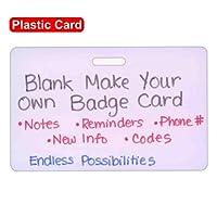 blank plastic horizontal make your own badge id card pocket