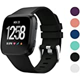 TERSELY Band Strap for Fitbit Versa / Versa Lite, Classic Soft TPU Silicone Adjustable Replacement Bands Fitness Quick Release Sport Bracelet Strap for Fitbit Versa / Lite Tracker