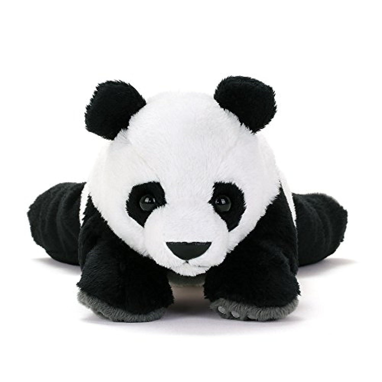カロラータ ジャイアントパンダ ぬいぐるみ (検針2度済み) 動物 ねそべりシリーズ [やさしい手触り] お人形 15cm×11cm×25cm