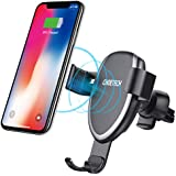CHOETECH Wireless Car Charger, 7.5W Wireless Car Charging Mount Holder Compatible with iPhone Xs/X/ 8/8 Plus, 10W Fast Charging Samsung Galaxy Note 9 S8 S8 Plus S7 S7 Edge S6 Edge Plus