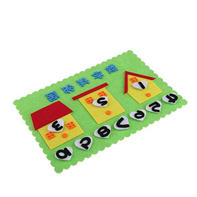 CUTICATE 子供 知育玩具 早期教育 おもちゃ 数える 数学 パズル フェルト 幼稚園 教育ツール 全14タイプ - ハウス
