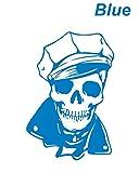 ノーブランド 青 スケルトンセーラーステッカー スカル カリブ海の海賊 海賊 パイレーツ オブ カリビアン