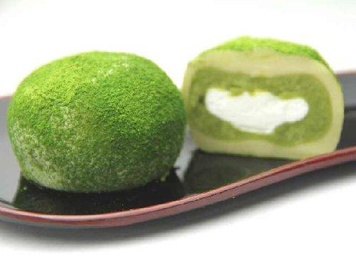 抹茶クリーム大福 10個入セット (抹茶×5、小豆×5)