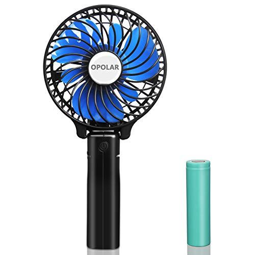 OPOLAR充電式扇風機 3段階風力調節 強力風力 折りたたみ式 せんぷうき 手持ち、持ち運び 室外、室内 ミニ扇風機