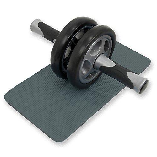 DABADA(ダバダ) 腹筋 ローラー 腹筋トレーニング エクササイズローラー サポートマット付き (ブラック) -