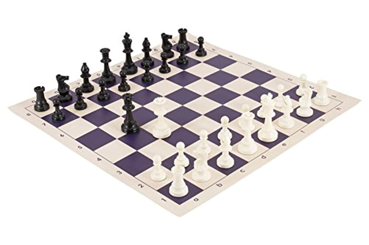 疫病ストレス提供されたトーナメントチェスの駒とチェスボードコンボ – ソリッドプラスチック – by USチェスフェデレーション