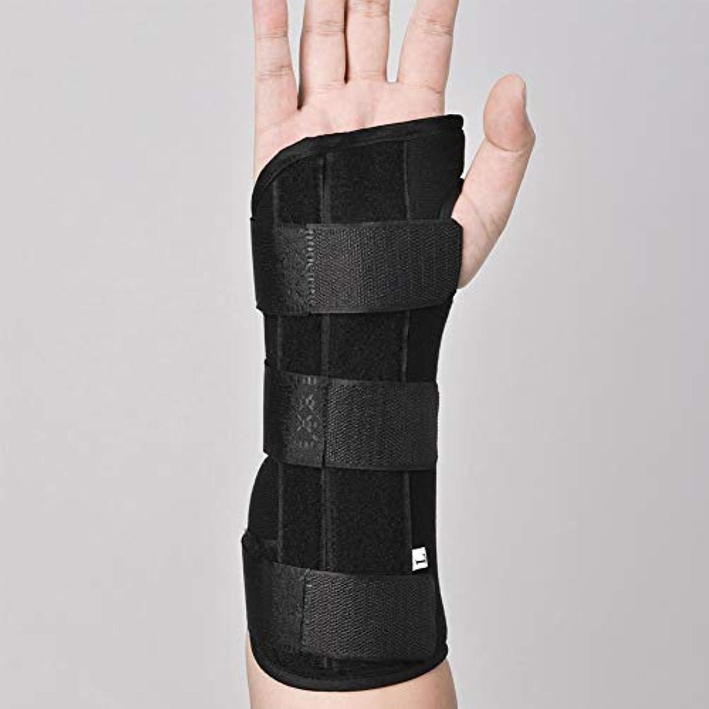 年懲らしめ平凡捻挫および成人用に適した関節炎のためのアルミニウム副木矯正ストラップ痛み緩和と手首の関節,Lefthand,S
