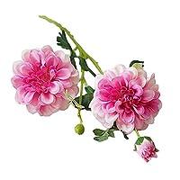 hamulekfae-母の日花束ソープフラワー1ピース造花ステージガーデンブライダルウェディングアレンジメントパーティーDIYの装飾 - ピンク結婚祝い