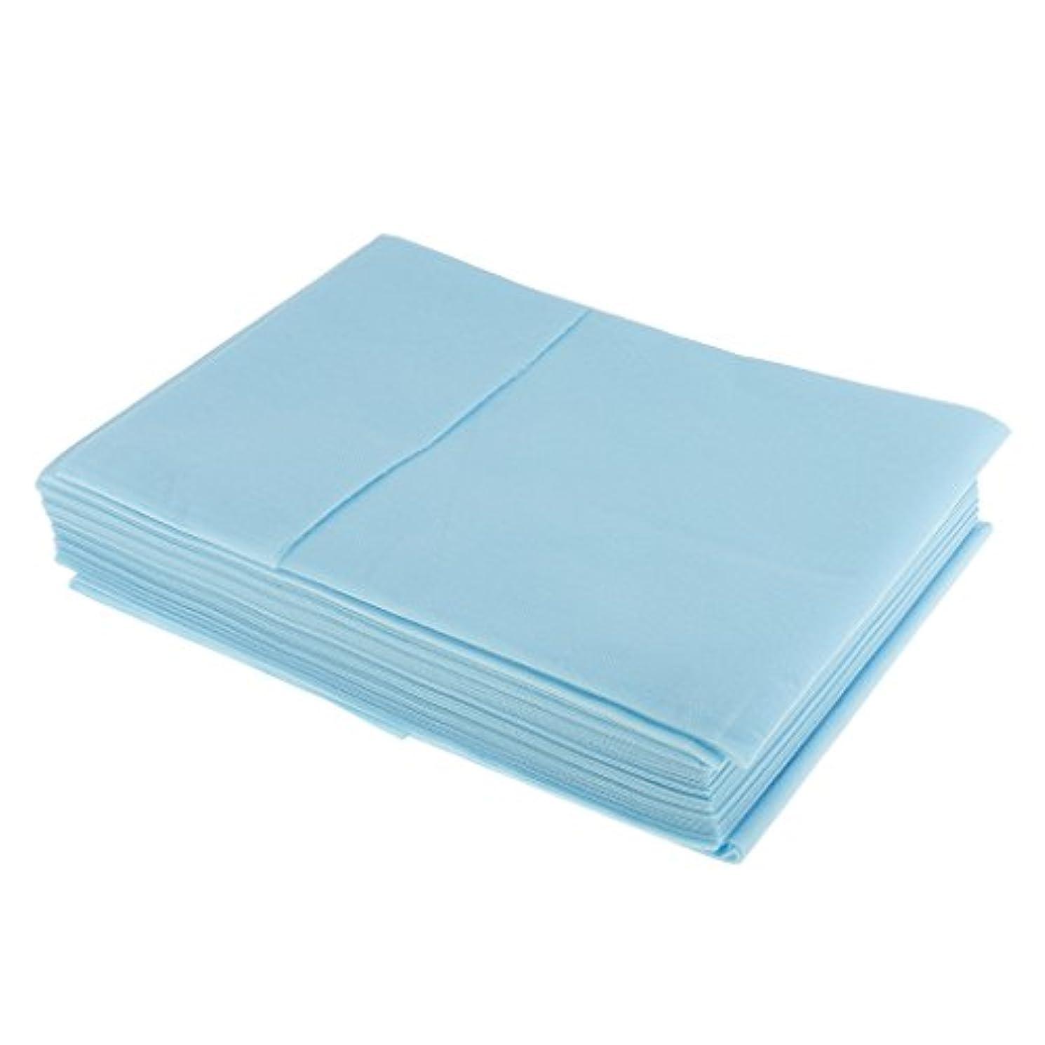 フィドル改善抜本的なPerfk 10枚入り 使い捨て 衛生シート ベッドパッド 旅行用 美容室/マッサージ/サロン/ホテル 店舗用品 全3色選べ - 青