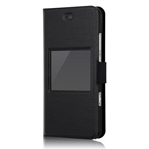 レイ・アウト AQUOS Xx3 mini/SERIE mini SHV38 ケース 手帳 スリム 小窓付き/ブラック RT-AX3MSLC1/Bの詳細を見る