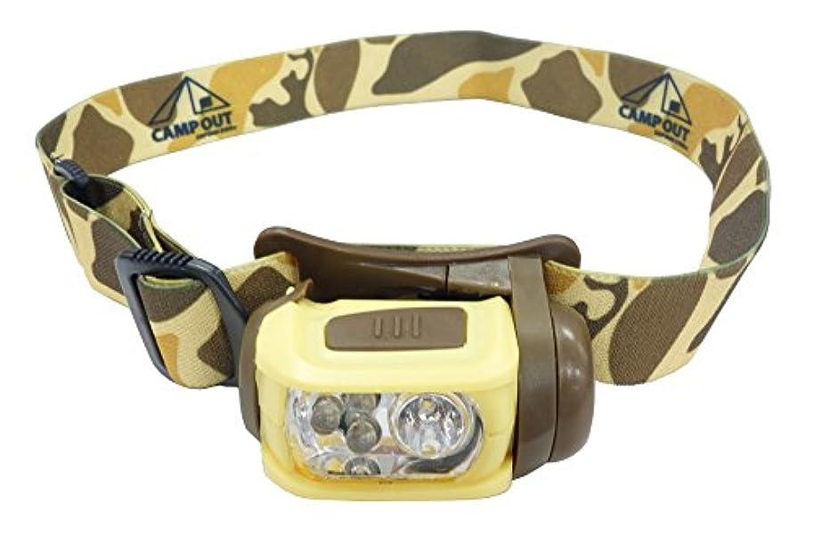 幾分ファイナンス尽きるキャプテンスタッグ(CAPTAIN STAG) ヘッドライト キャンプアウト LED ヘッドライト カモフラージュ [ 明るさ65ルーメン(High) ] UK-4031