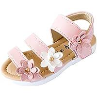 OVERMAL Summer Kids Children Sandals Fashion Big Flower Girls Flat Pricness Shoes