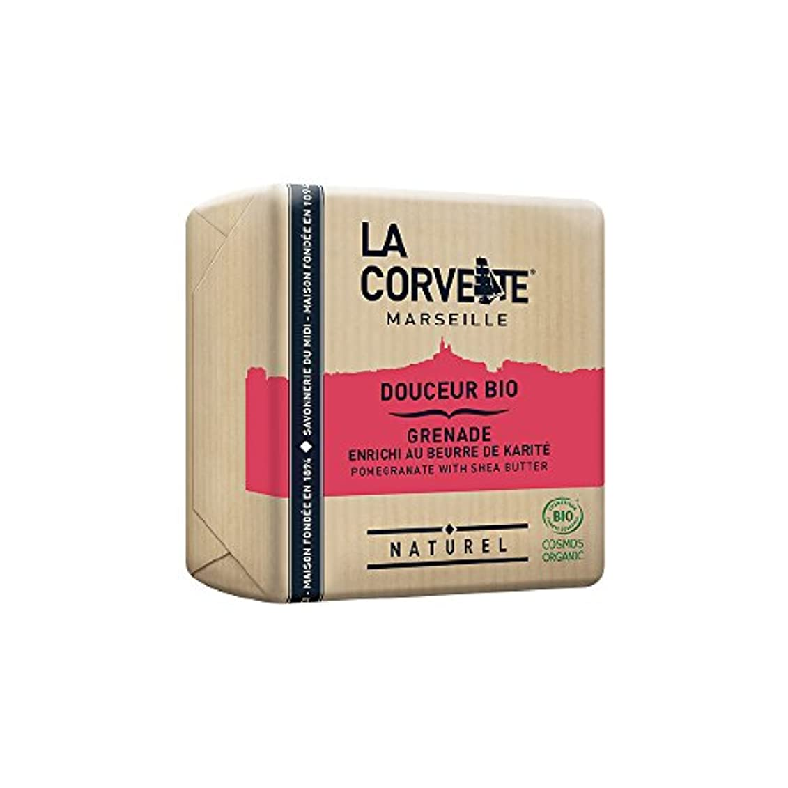 泥小説蛾La Corvette(ラ?コルベット) サボン?ドゥスール?ビオ ポメグラネイト&シアバター 100g