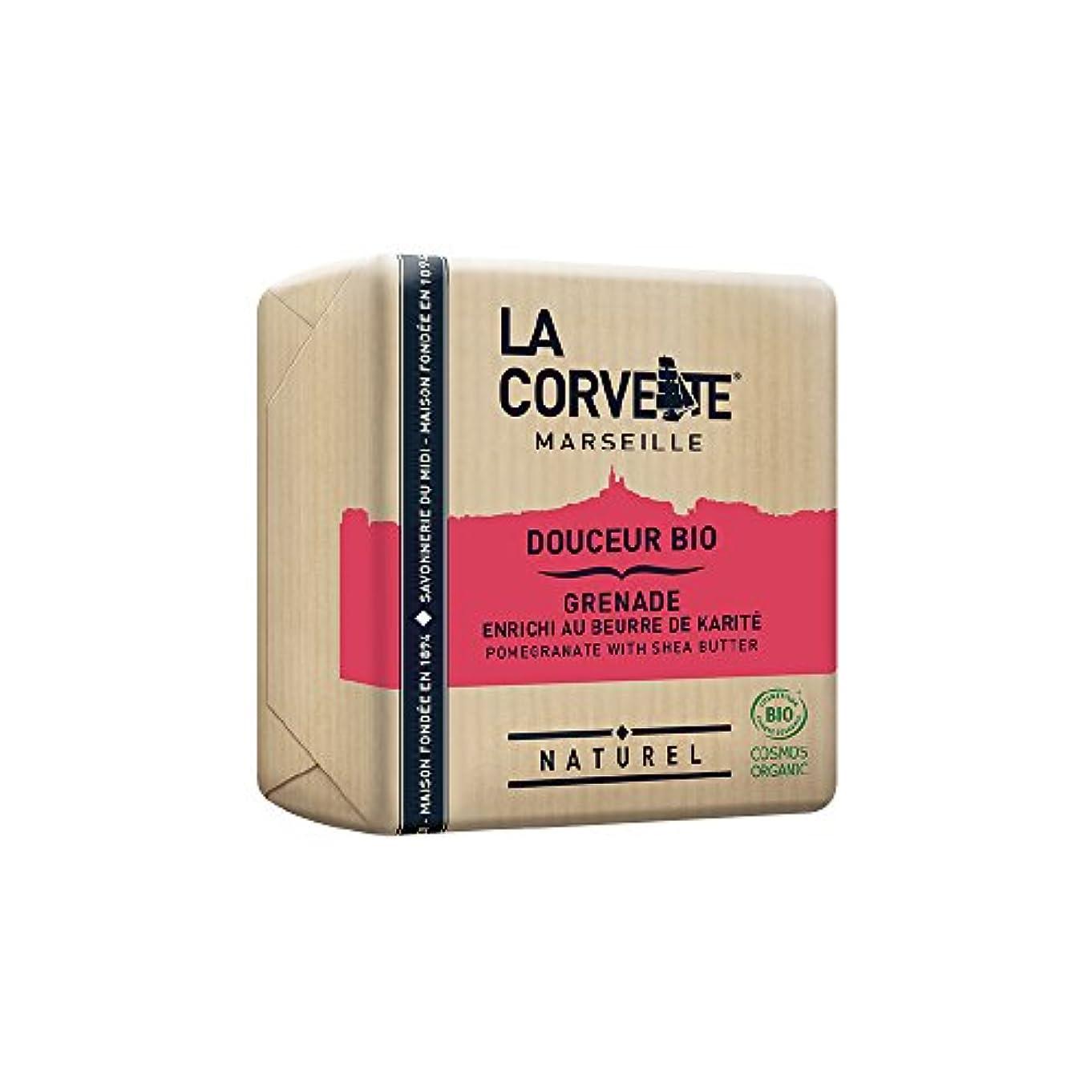 単に騒備品La Corvette(ラ?コルベット) サボン?ドゥスール?ビオ ポメグラネイト&シアバター 100g