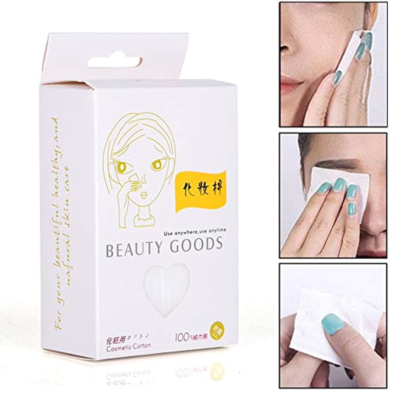 症状ボット文字化粧水パッド&メイク 100個セット/箱 使い捨て 化粧品リムーバークリーニングワイプ