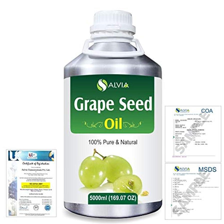 拍手誤解させる同志Grape Seed (Vitis vinifera) 100% Natural Pure Undiluted Uncut Carrier Oil 5000ml/169 fl.oz.