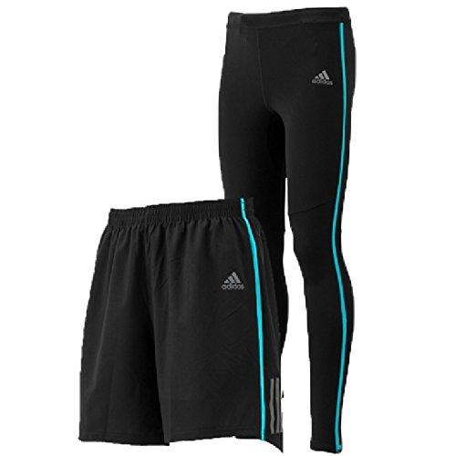 ランニングパンツ ランニングタイツ 2点セット メンズ アディダス adidas ランニングウェア 男性 ジョギング トレーニング マラソン トレーニング ジム ウェア/DJV87-BUF51 (S, (BR8243))