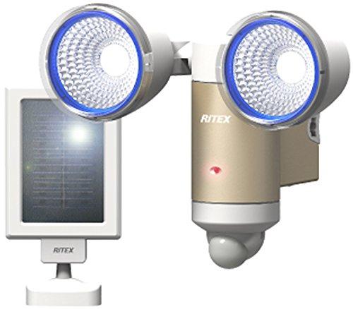 ライテックス 3W×2灯 LEDソーラーセンサーライト S-65L