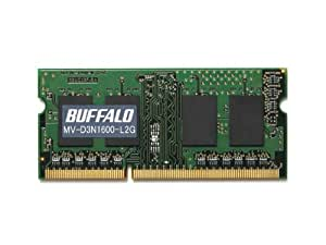 BUFFALO PC3L-12800対応 DDR3 SDRAM S.O.DIMM 2GB MV-D3N1600-L2G
