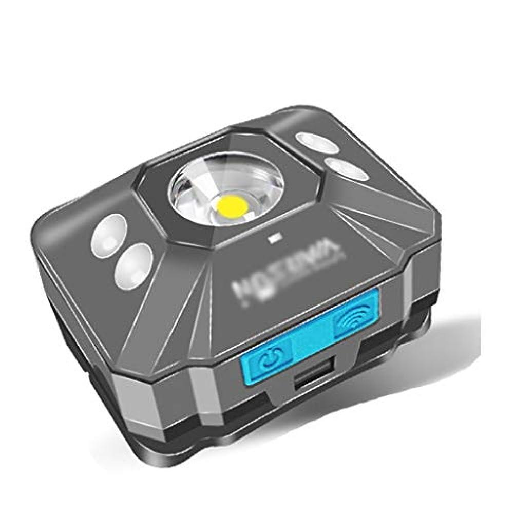 若いトムオードリース臨検ヘッドライト ヘッドライトLEDグレア充電ヘッドマウント懐中電灯小型超軽量夜釣り長寿命 LEDヘッドライト
