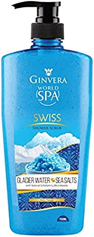 Ginvera World Spa Glacier Water and Sea Salt Shower Scrub, 750ml