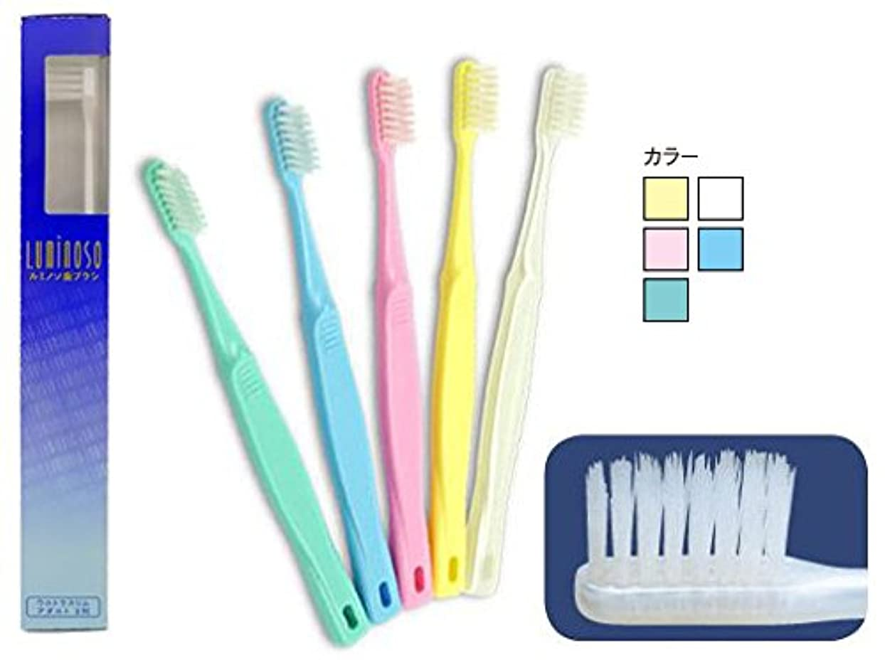 不正確偽正確なルミノソ 歯ブラシ ウルトラスリム アダルト 3列 10本 (カラー指定不可)