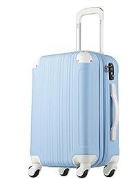 スーツケース キャリーケース キャリーバッグ 安心1年保証 ファスナー L サイズ 長期滞在 拡張 7日 8日 9日 10日 11日 12日 13日 14日 TSAロック ハードキャリー 大型 ジッパー かわいい 全サイズ 有り 5082-70 ブルー/ホワイト