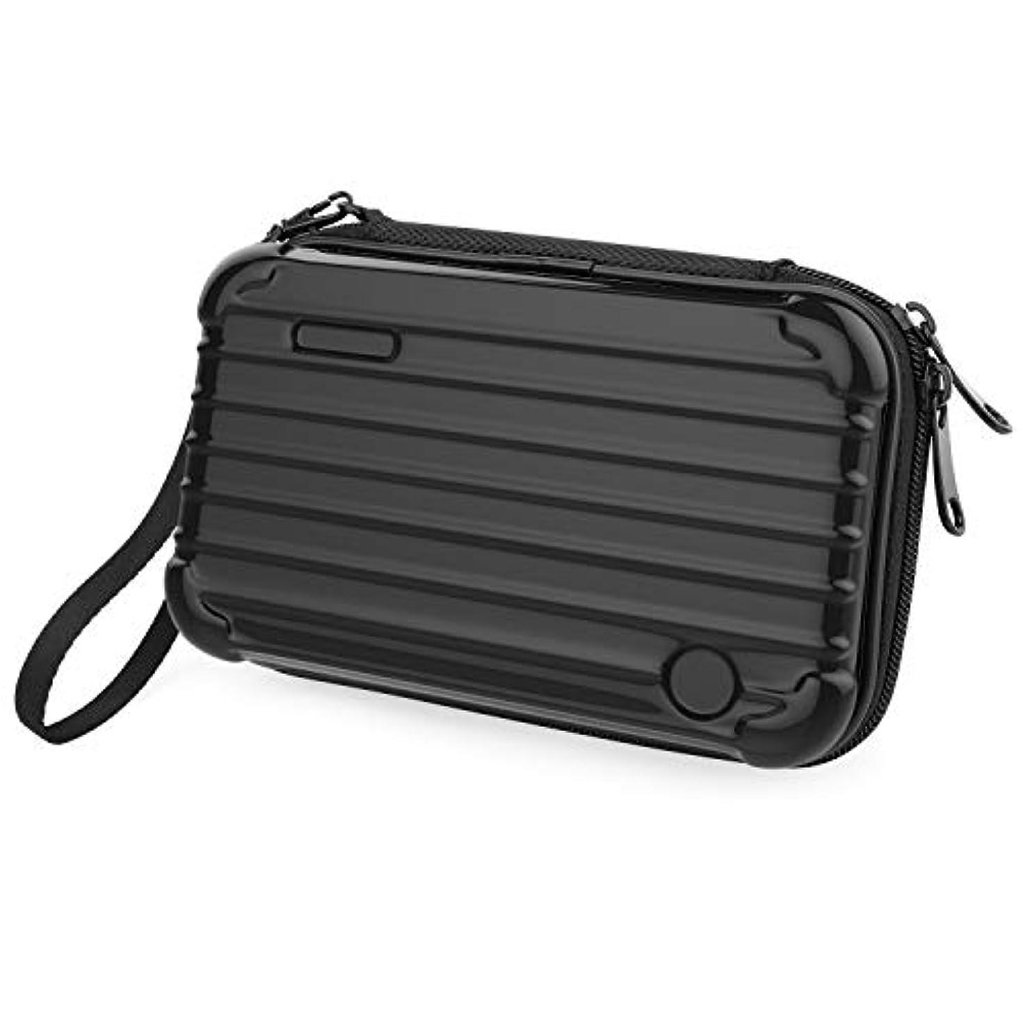 処方なかなか合理的メイクボックス - Luxspire 防水 防塵 耐衝撃 收納抜群 通勤?出張?旅行用 コスメボックス メイクブラシバッグ メイクボックス Black ミニ型