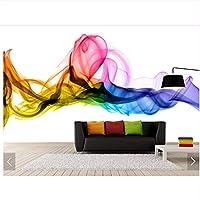 Weaeo ヨーロッパの手描きカラフルな煙クリエイティブ壁画壁画の3Dプリント写真壁画壁紙カスタム-250X175Cm