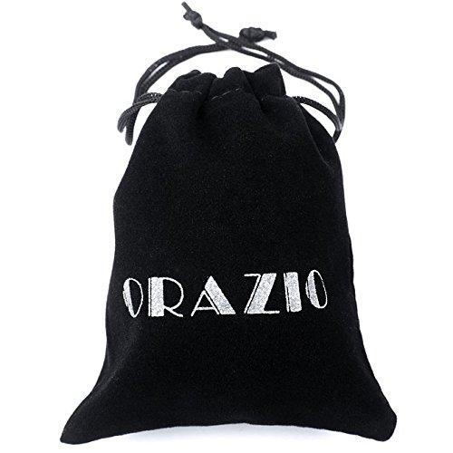 ORAZIO[オラジオ] 【3点セット】 アンティーク風 レザー ブレスレット メンズ ・レディース 腕輪 多重巻き ブレスレット 長さ調節可能 レザー&合金製
