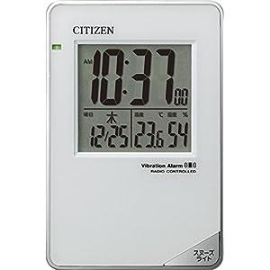 CITIZEN ( シチズン ) 電波 目覚まし 時計 パルデジットビブラート バイブ付き 8RZ159-003