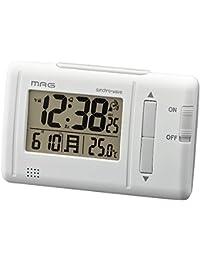 MAG(マグ) 置き時計・掛け時計 ホワイト (約) 高さ7.0×幅11.0×奥行き5.2cm