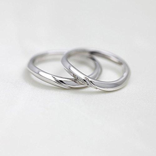 結婚指輪 マリッジリング PT100 指輪 シンプルラインリング ダイヤモンド 0.03ct プラチナ ペアリング
