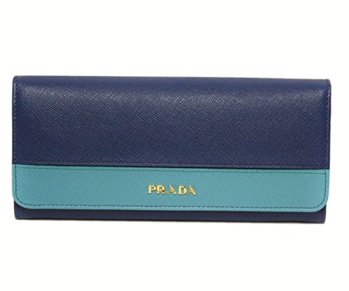 (PRADA) プラダ 財布 二つ折り長財布 バイカラー 型...