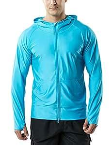 (テスラ)TESLA オールシーズン メンズ ラッシュパーカー ジャケット 長袖 水着 ラッシュガード フード付き ジップアップ [UVカット UPF50+・吸汗速乾] スイムウェア スイミング オーバーウェア SWIM MSZ05-SBL_XL